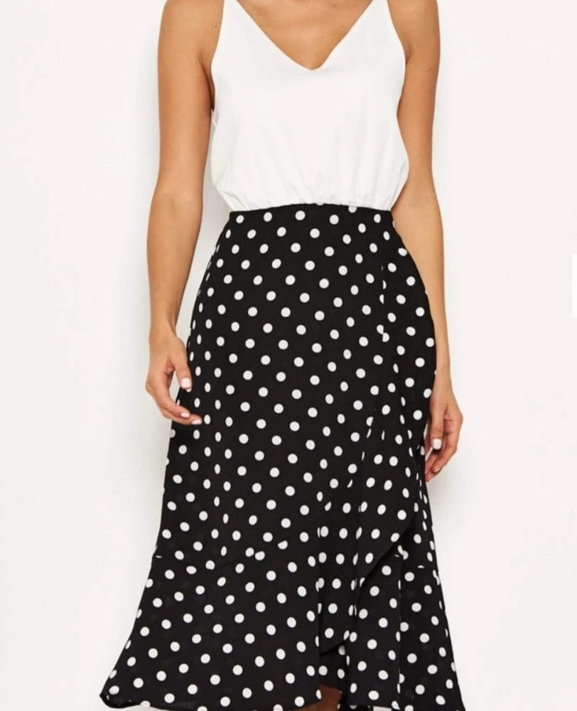 2 in 1 Polka Dot Dress