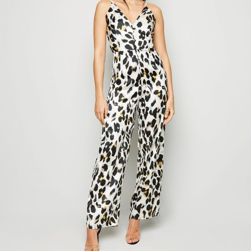 Cream Animal Print Jumpsuit