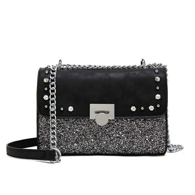 Black Metallic Bag