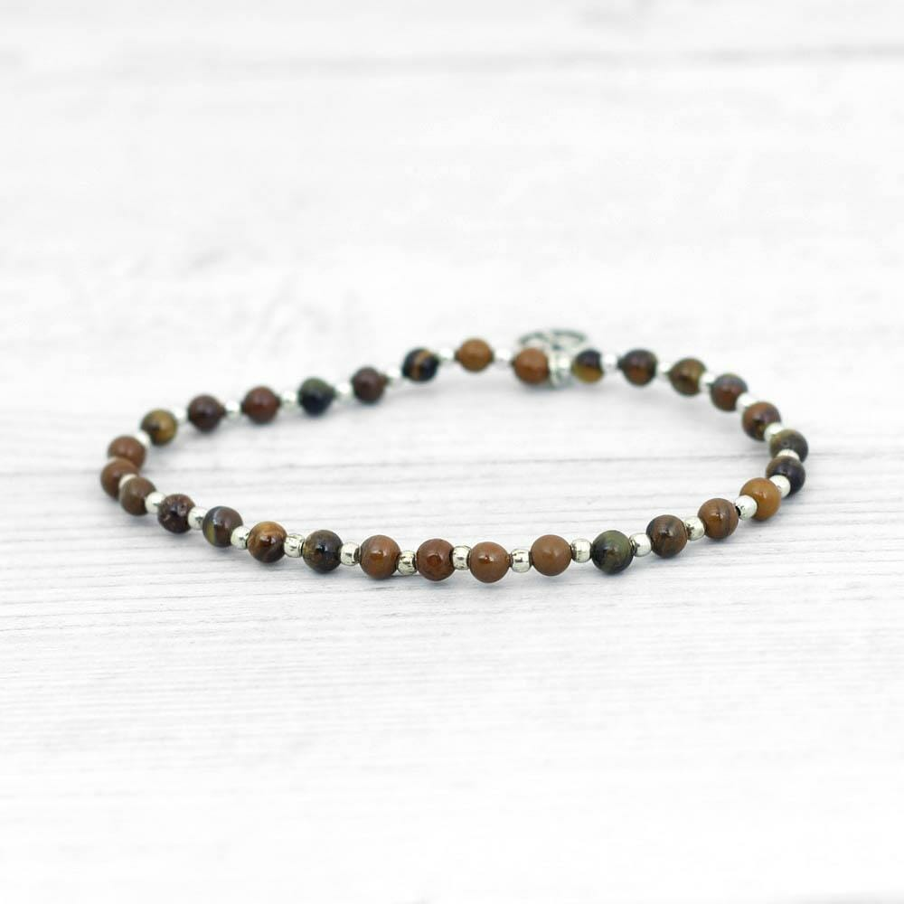 Tigers Eye Beaded Bracelet - Solar Plexus Chakra