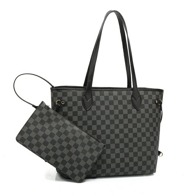 Black Check Neverfull Bag