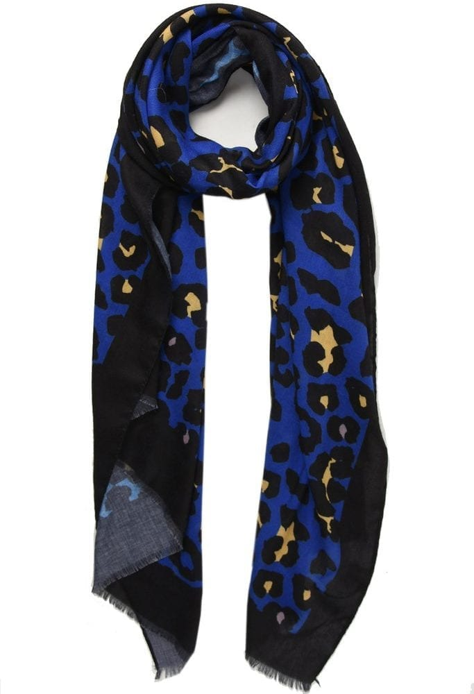 Blue and Mustard Scarf