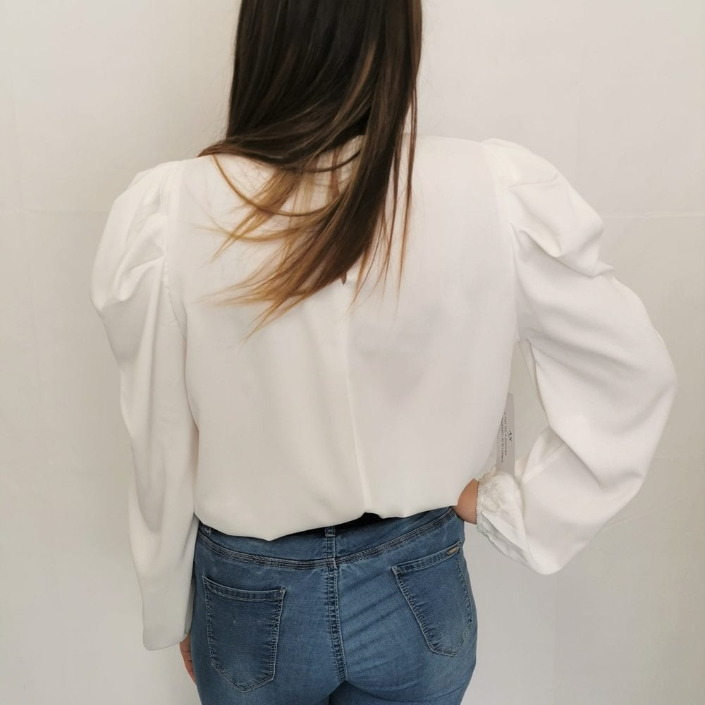 Cream Puff Sleeve Loose Fit Top