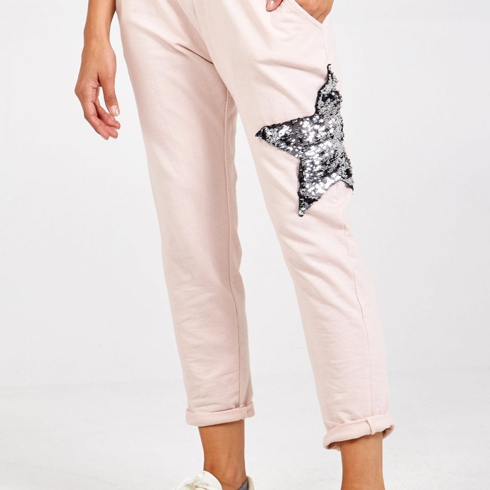 Pink Sequin Star Joggers