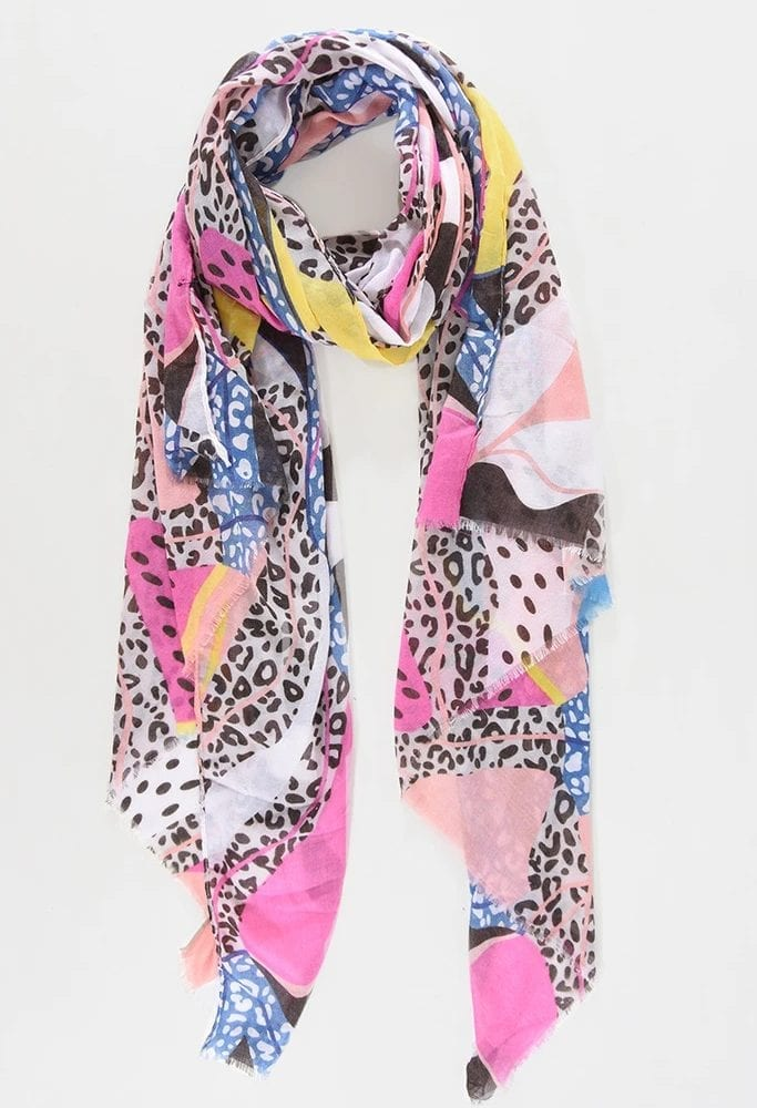 Pink-Abstract-Colour-Block-Scarf
