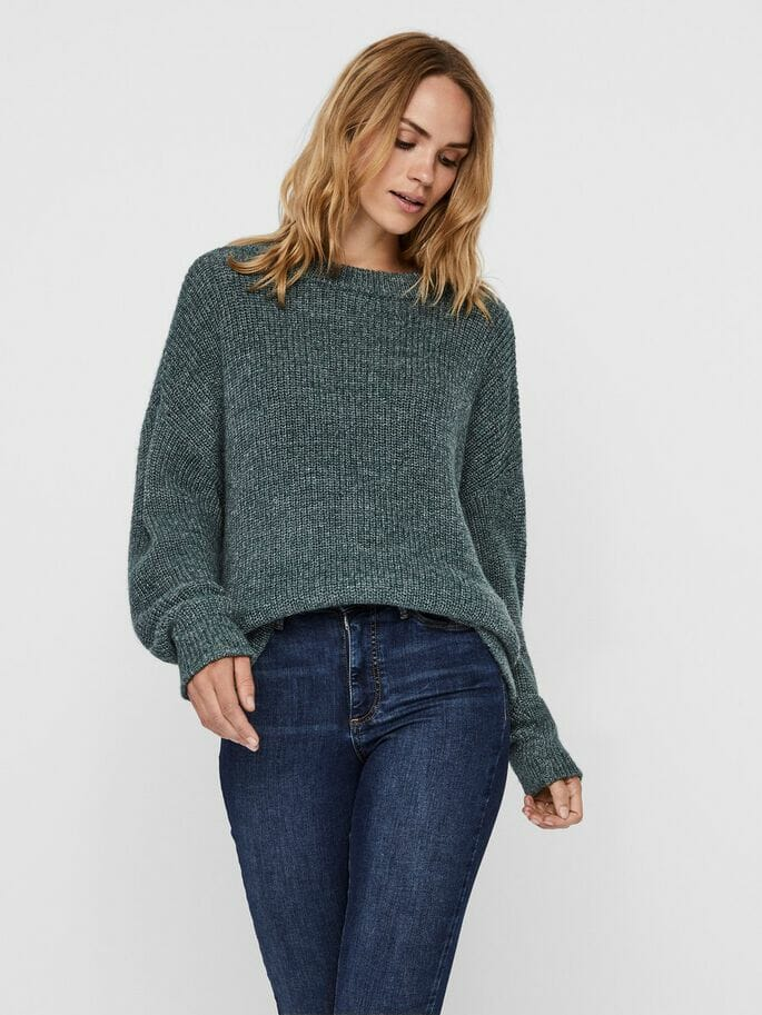 Pine Green Knitted Jumper
